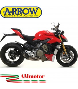 Terminali Di Scarico Arrow Ducati Streetfighter V4 Moto Slip-On Works Titanio Con Raccordi In Acciaio