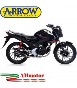 Terminale Di Scarico Arrow Honda CB 125 F 17 - 2018 Slip-On X-Kone Dark Moto
