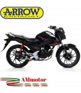 Terminale Di Scarico Arrow Honda CB 125 F 17 - 2018 Slip-On Thunder Alluminio Dark Moto