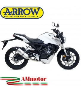 Terminale Di Scarico Arrow Honda CB 125 R 18 - 2020 Slip-On Thunder Alluminio Moto Fondello Carbonio