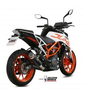 Mivv Ktm 390 Duke Terminale Di Scarico Marmitta Gp Pro Carbonio Moto Omologato