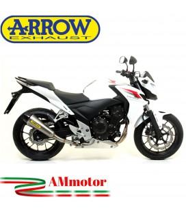 Terminale Di Scarico Arrow Honda CB 500 F 13 - 2015 Slip-On X-Kone Moto