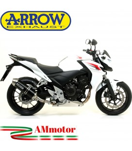 Terminale Di Scarico Arrow Honda CB 500 F 13 - 2015 Slip-On Race-Tech Alluminio Dark Moto