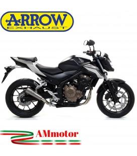 Terminale Di Scarico Arrow Honda CB 500 F 16 - 2018 Slip-On Pro Race Titanio Moto