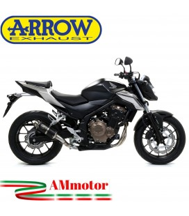Terminale Di Scarico Arrow Honda CB 500 F 16 - 2018 Slip-On GP2 Dark Moto