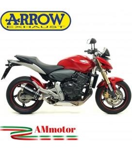 Terminale Di Scarico Arrow Honda CB 600 F Hornet 07 - 2013 Slip-On Thunder Alluminio Dark Moto
