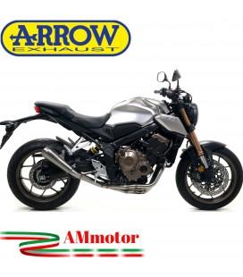Terminale Di Scarico Arrow Honda CB 650 R 19 - 2020 Slip-On Pro-Race Titanio Moto