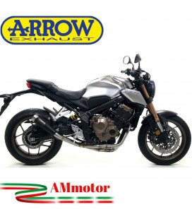 Terminale Di Scarico Arrow Honda CB 650 R 19 - 2020 Slip-On Pro-Race Nichrom Dark Moto