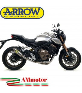 Terminale Di Scarico Arrow Honda CB 650 R 19 - 2020 Slip-On GP2 Titanio Moto