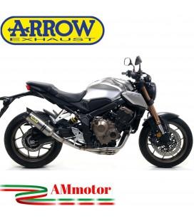 Terminale Di Scarico Arrow Honda CB 650 R 19 - 2020 Slip-On Thunder Titanio Moto