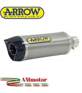 Terminale Di Scarico Arrow Honda CB 650 R 19 - 2020 Slip-On Thunder Alluminio Moto Fondello Carbonio
