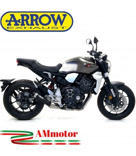 Terminale Di Scarico Arrow Honda CB 1000 R 18 - 2020 Slip-On Pro-Race Nichrom Dark Moto