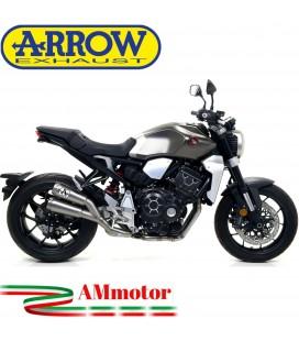 Terminale Di Scarico Arrow Honda CB 1000 R 18 - 2020 Doppi Slip-On Pro-Race Nichrom Moto
