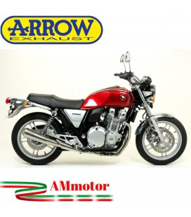 Terminale Di Scarico Arrow Honda CB 1100 13 - 2016 Slip-On Pro-Racing Moto