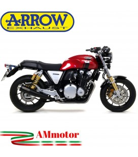 Terminali Di Scarico Arrow Honda CB 1100 EX / RS 17 - 2020 2 Slip-On Pro-Racing Nichrom Dark Moto