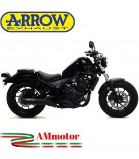 Terminale Di Scarico Arrow Honda Rebel 500 2020 Slip-On Dark Moto Fondello Carbonio