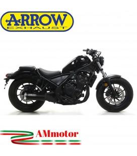 Terminale Di Scarico Arrow Honda Rebel 500 2020 Slip-On Dark Moto Fondello Alluminio