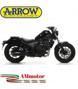 Terminale Di Scarico Arrow Honda Rebel 500 2020 Slip-On Dark Moto Fondello Alluminio Dark