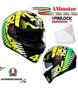 Casco VR 46 AGV K3 SV Top Tribe Da Moto Valentino Rossi Integrale Pinlock