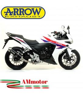Terminale Di Scarico Arrow Honda Cbr 500 R 13 - 2015 Slip-On Race-Tech Alluminio Dark Moto