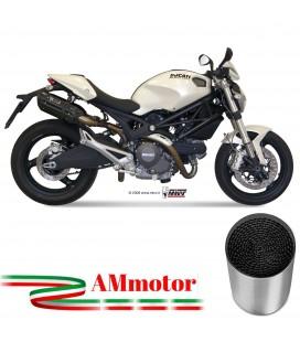 Mivv Ducati Monster 696 Terminali Di Scarico Marmitte Suono Black Moto