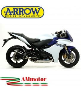 Terminale Di Scarico Arrow Honda Cbr 600 F 11 - 2013 Slip-On Thunder Alluminio Dark Moto