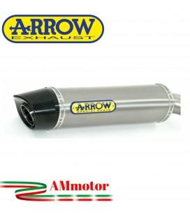 Terminale Di Scarico Arrow Honda Cbr 600 RR 07 - 2008 Slip-On Indy-Race Titanio Moto Fondello Carbonio