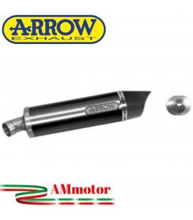 Terminale Di Scarico Arrow Honda Cbr 600 RR 07 - 2008 Slip-On Indy-Race Alluminio Dark Moto Fondello Carbonio