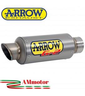 Terminale Di Scarico Arrow Honda Cbr 650 R 19 - 2020 Slip-On GP2 Titanio Moto