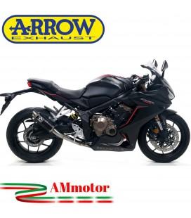 Terminale Di Scarico Arrow Honda Cbr 650 R 19 - 2020 Slip-On GP2 Dark Moto