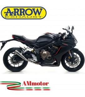 Terminale Di Scarico Arrow Honda Cbr 650 R 19 - 2020 Slip-On Pro-Race Titanio Moto