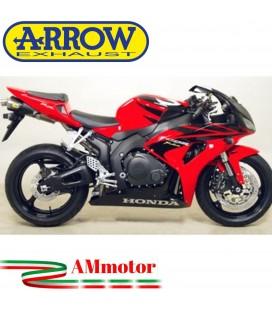 Terminale Di Scarico Arrow Honda Cbr 1000 RR 06 - 2007 Slip-On Maxi Race-Tech Titanio Moto