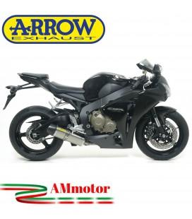 Terminale Di Scarico Arrow Honda Cbr 1000 RR 08 - 2011 Slip-On Indy Race Titanio Moto Fondello Carbonio