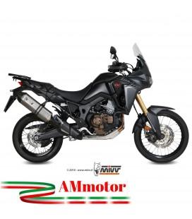 Mivv Honda Crf 1000 L Africa Twin Terminale Di Scarico Marmitta Speed Edge Inox Moto