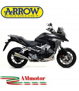 Terminale Di Scarico Arrow Honda Crossrunner 800 15 - 2016 Slip-On X-Kone Moto