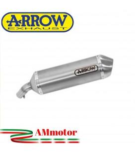 Terminale Di Scarico Arrow Honda NC 750 S 14 - 2015 Slip-On Race-Tech Alluminio Moto