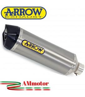 Terminale Di Scarico Arrow Honda NC 750 S 16 - 2020 Slip-On Race-Tech Titanio Moto Fondello Carbonio