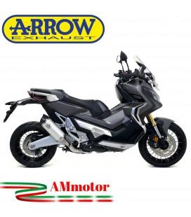 Terminale Di Scarico Arrow Honda X-Adv 750 17 - 2020 Slip-On Race-Tech Alluminio Moto Fondello Carbonio Vers Corta