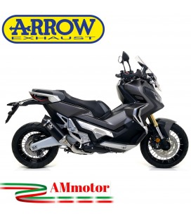 Terminale Di Scarico Arrow Honda X-Adv 750 17 - 2020 Slip-On Race-Tech Alluminio Dark Moto Fondello Carbonio Vers Corta