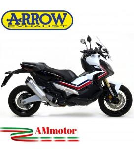 Terminale Di Scarico Arrow Honda X-Adv 750 17 - 2020 Slip-On Race-Tech Alluminio Moto Fondello Carbonio