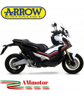 Terminale Di Scarico Arrow Honda X-Adv 750 17 - 2020 Slip-On Pro-Race Nichrom Dark Moto