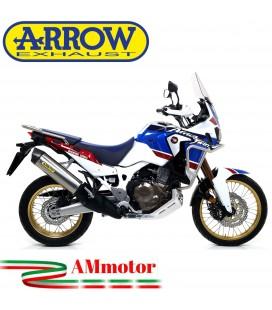 Terminale Di Scarico Arrow Honda Africa Twin Adv Sports 18 - 2019 Slip-On Maxi Race-Tech Titanio Moto Fondello Carbonio