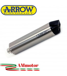 Terminale Di Scarico Arrow Honda Africa Twin Adv Sports 18 - 2019 Slip-On Maxi Race-Tech Alluminio Moto Fondello Carbonio