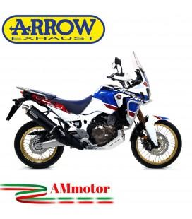Terminale Di Scarico Arrow Honda Africa Twin Adv Sports 18 - 2019 Slip-On Maxi Race-Tech Alluminio Dark Moto