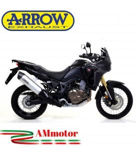 Terminale Di Scarico Arrow Honda Crf 1000L Africa Twin 16 - 2019 Slip-On Maxi Race-Tech Alluminio Moto Fondello Carbonio
