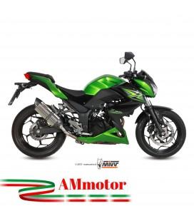 Mivv Kawasaki Z 300 Terminale Di Scarico Marmitta Suono Inox Moto Omologato