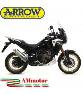Terminale Di Scarico Arrow Honda Crf 1100L Africa Twin 2020 Slip-On Maxi Race-Tech Titanio Moto
