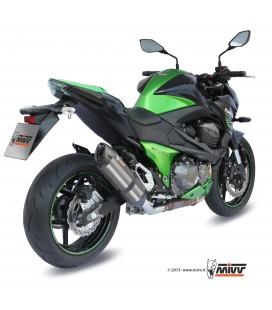 Mivv Kawasaki Z 800 Terminale Di Scarico Moto Marmitta Suono Inox Omologato