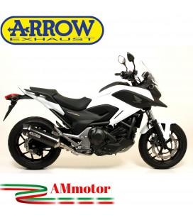 Terminale Di Scarico Arrow Honda NC 750 X 14 - 2015 Slip-On Race-Tech Carbonio Moto Fondello Carbonio