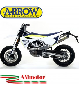Terminale Di Scarico Arrow Husqvarna 701 Enduro / Supermoto 17 - 2020 Slip-On Race-Tech Titanio Moto